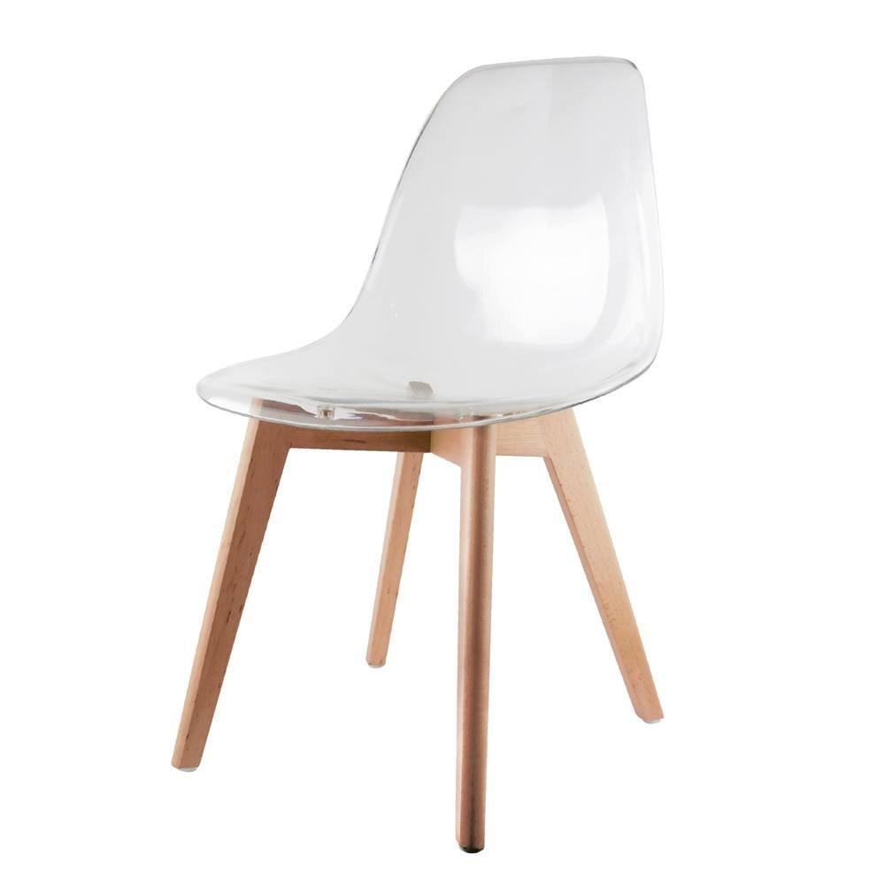 Chaise scandinave transparente