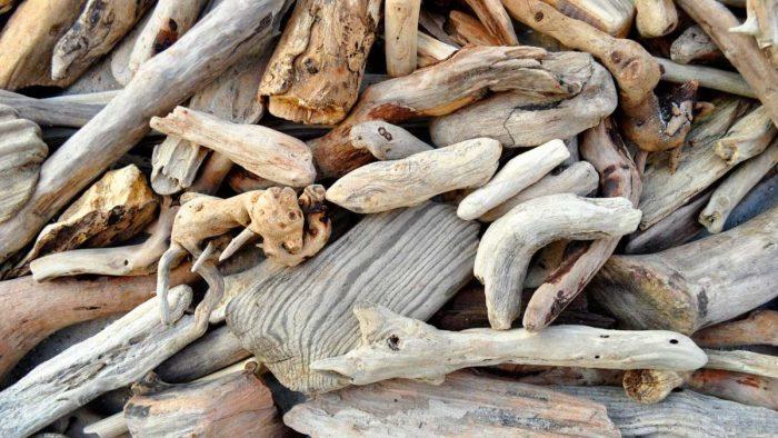 La présentation du bois flotté