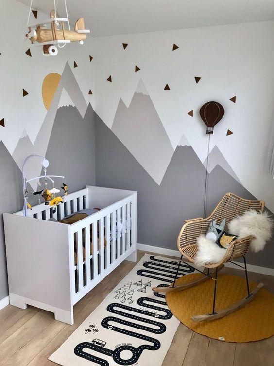 Idée de décoration d'une chambre de bébé garçon